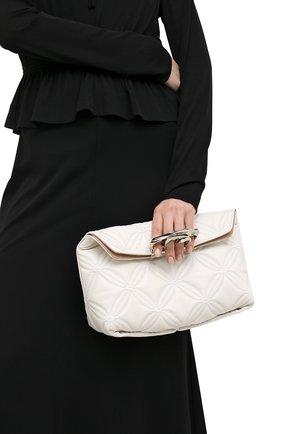 Женский клатч jewelled satchel ALEXANDER MCQUEEN белого цвета, арт. 631865/13Z2Y | Фото 2