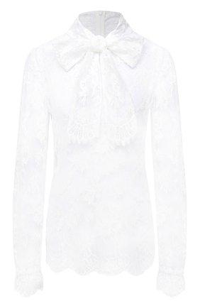 Женская хлопковая блузка DOLCE & GABBANA белого цвета, арт. F74A8T/HLMQJ | Фото 1