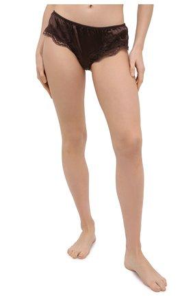 Женские трусы-слипы DOLCE & GABBANA темно-коричневого цвета, арт. 02B91T/FUAD8 | Фото 2