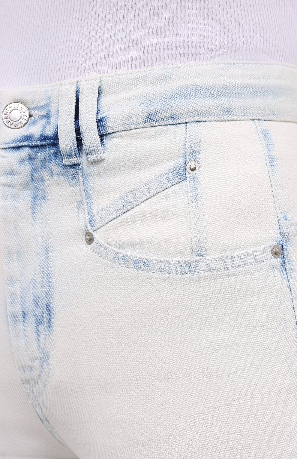 Женские джинсы ISABEL MARANT голубого цвета, арт. PA1750-20A022I/N0MINIC   Фото 5