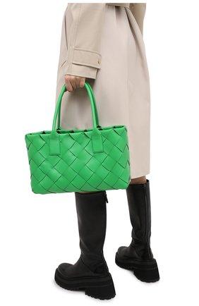 Женская сумка BOTTEGA VENETA зеленого цвета, арт. 649598/VMAY3 | Фото 2