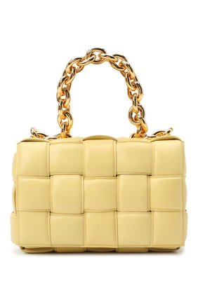 Женская сумка chain cassette BOTTEGA VENETA желтого цвета, арт. 631421/VBWZ0   Фото 1