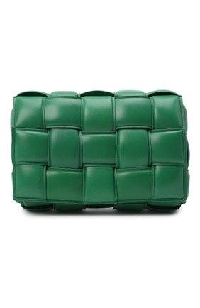 Женская сумка padded cassette BOTTEGA VENETA зеленого цвета, арт. 591970/VCQR1 | Фото 1