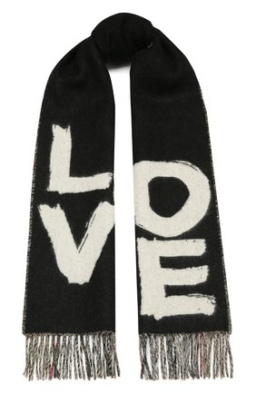 Мужские кашемировый шарф BURBERRY черного цвета, арт. 8037558 | Фото 1