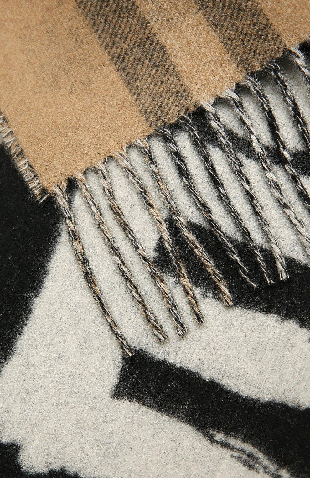 Женский кашемировый шарф BURBERRY черного цвета, арт. 8037558   Фото 2