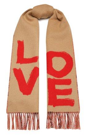 Мужские кашемировый шарф BURBERRY бежевого цвета, арт. 8037556 | Фото 1