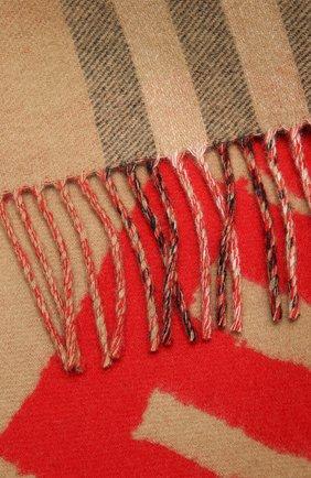 Мужские кашемировый шарф BURBERRY бежевого цвета, арт. 8037556 | Фото 2