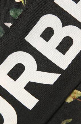 Мужские шелковый шарф BURBERRY черного цвета, арт. 8037526 | Фото 2