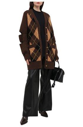 Женский кардиган из шерсти и кашемира BURBERRY коричневого цвета, арт. 8037239 | Фото 2