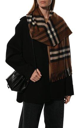 Мужские кашемировый шарф BURBERRY бежевого цвета, арт. 8037147 | Фото 2