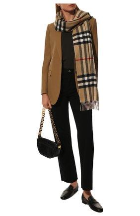 Мужские кашемировый шарф BURBERRY розового цвета, арт. 8035912 | Фото 2