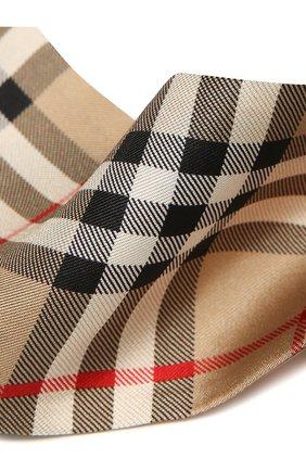 Мужские шелковый шарф BURBERRY бежевого цвета, арт. 8028950 | Фото 2