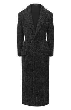 Женское шерстяное пальто YOHJI YAMAMOTO черного цвета, арт. FR-C04-104   Фото 1