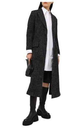 Женское шерстяное пальто YOHJI YAMAMOTO черного цвета, арт. FR-C04-104   Фото 2