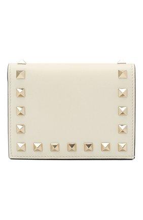 Женские кожаный кошелек VALENTINO кремвого цвета, арт. VW2P0P39/B0L | Фото 1