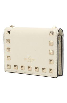 Женские кожаный кошелек VALENTINO кремвого цвета, арт. VW2P0P39/B0L | Фото 2