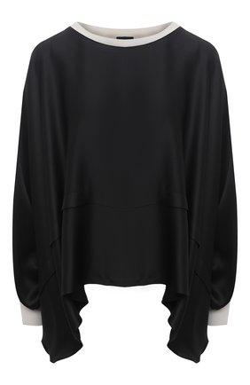 Женская шелковая блузка GIORGIO ARMANI черного цвета, арт. 1SHCCZ13/TZ782 | Фото 1