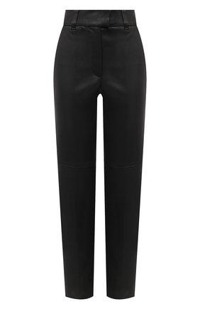 Женские кожаные брюки BRUNELLO CUCINELLI черного цвета, арт. M0V32P7118 | Фото 1