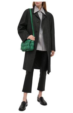Женские кожаные брюки BRUNELLO CUCINELLI черного цвета, арт. M0V32P7118 | Фото 2