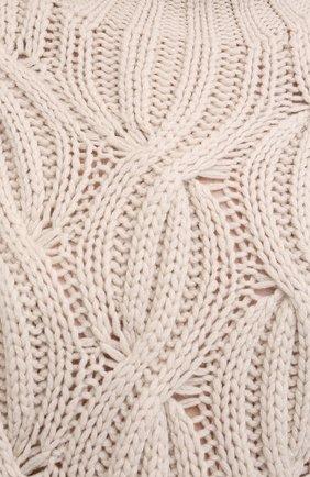 Женский кашемировый свитер BRUNELLO CUCINELLI светло-бежевого цвета, арт. M52362504 | Фото 5