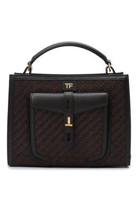 Женская сумка t-twist TOM FORD коричневого цвета, арт. L1203T-ICL023 | Фото 1