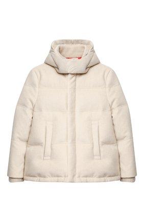 Детский пуховая куртка LORO PIANA светло-бежевого цвета, арт. FAL3721 | Фото 1