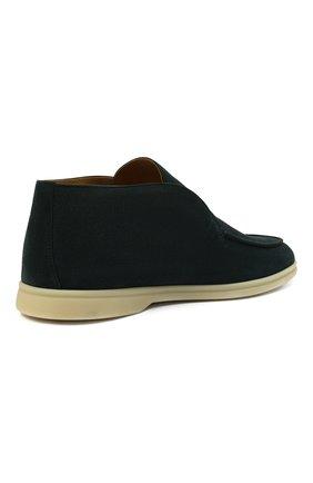 Мужские замшевые ботинки open walk LORO PIANA изумрудного цвета, арт. FAB4368 | Фото 5