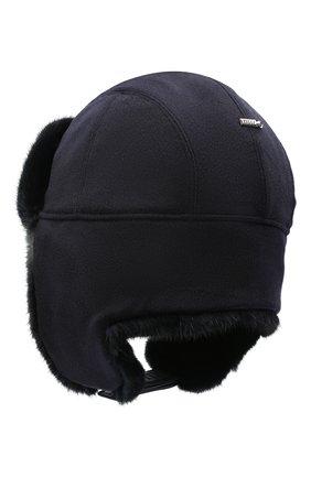 Мужская шапка-ушанка из меха норки ZILLI черного цвета, арт. MHQ-0RS00-30337/1002 | Фото 2