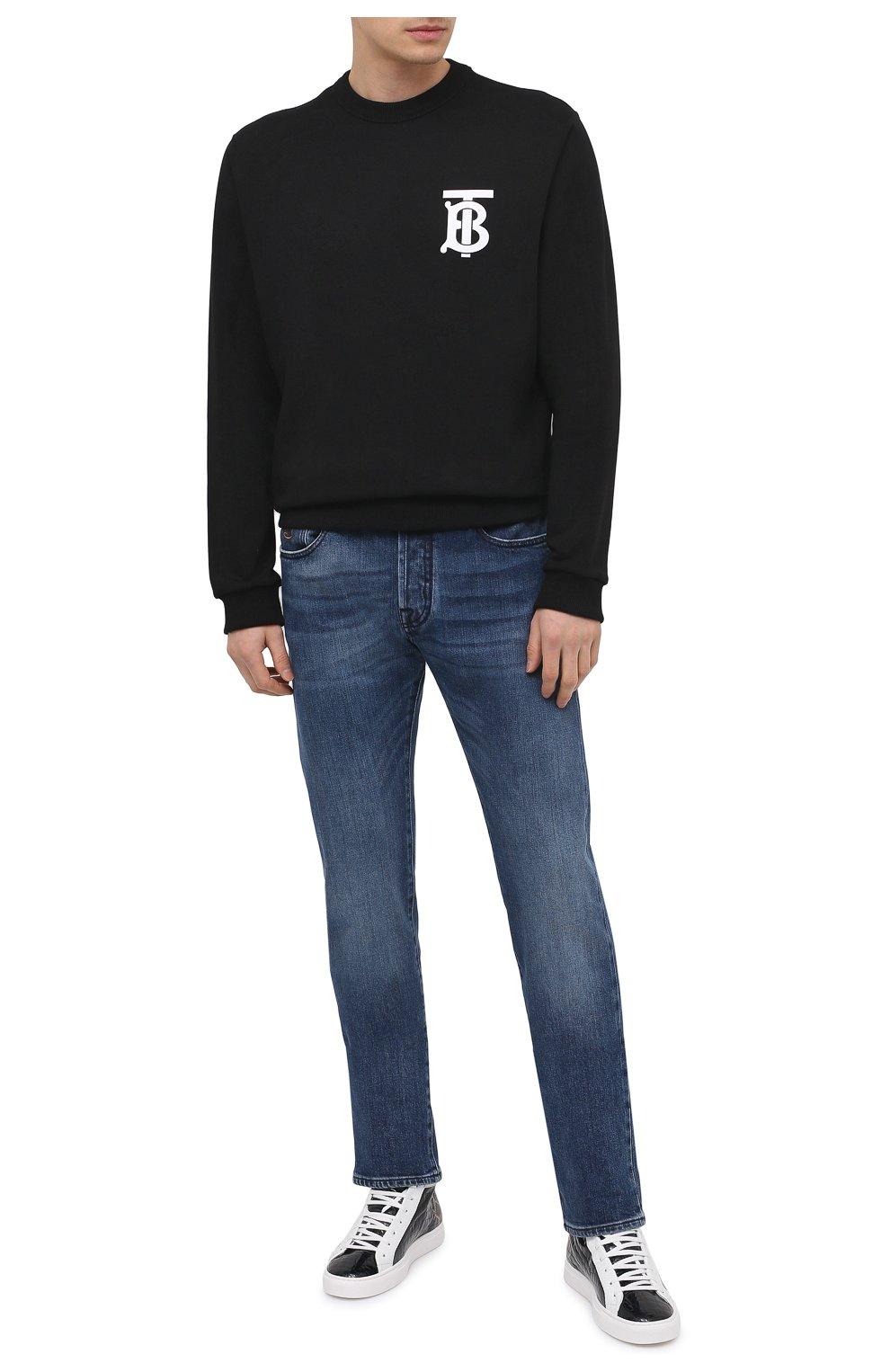 Мужские кожаные кеды HIDE&JACK темно-синего цвета, арт. 0ZLHBLUWHT | Фото 2 (Материал внутренний: Натуральная кожа; Подошва: Массивная)