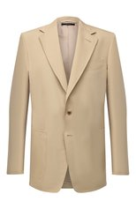 Мужской пиджак из хлопка и шелка TOM FORD бежевого цвета, арт. Q74R29/15ER40 | Фото 1