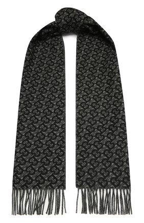 Мужской кашемировый шарф BURBERRY черного цвета, арт. 8037408 | Фото 1