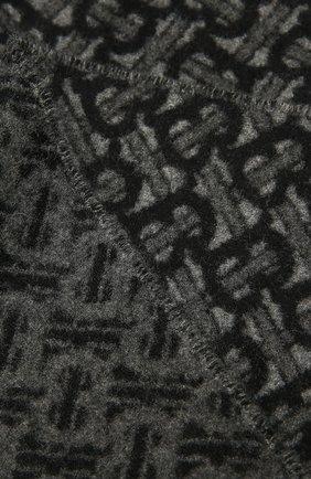 Мужской кашемировый шарф BURBERRY черного цвета, арт. 8037408 | Фото 2