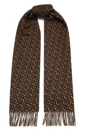 Мужской кашемировый шарф BURBERRY коричневого цвета, арт. 8033992 | Фото 1