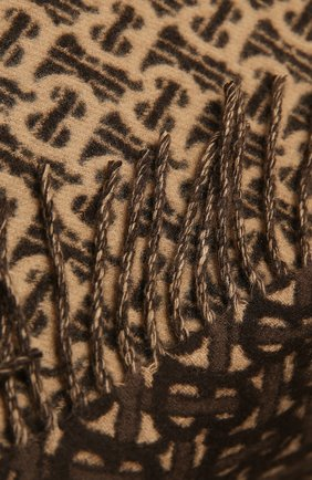 Мужской кашемировый шарф BURBERRY коричневого цвета, арт. 8033992 | Фото 2