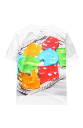 Детская хлопковая футболка BURBERRY разноцветного цвета, арт. 8037611 | Фото 1