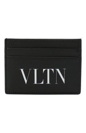 Мужской кожаный футляр для кредитных карт valentino garavani VALENTINO черно-белого цвета, арт. VY2P0448/LVN | Фото 1