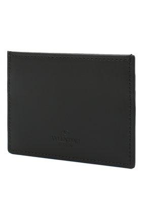 Мужской кожаный футляр для кредитных карт valentino garavani VALENTINO черно-белого цвета, арт. VY2P0448/LVN | Фото 2