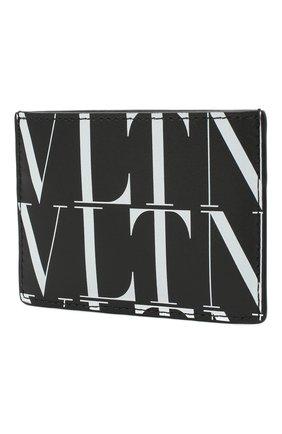 Мужской кожаный футляр для кредитных карт valentino garavani VALENTINO черно-белого цвета, арт. VY2P0448/GTC | Фото 2