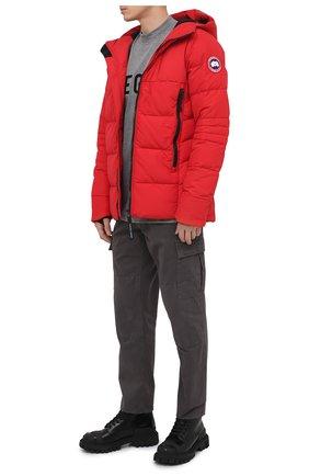 Мужская пуховая куртка hybridge CANADA GOOSE красного цвета, арт. 2742M   Фото 2