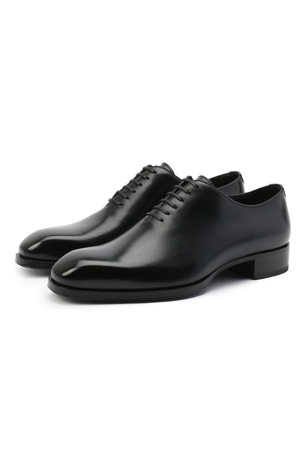 Мужские кожаные оксфорды TOM FORD черного цвета, арт. J1249T-LCL021 | Фото 1