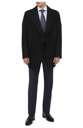 Мужские кожаные оксфорды TOM FORD черного цвета, арт. J1249T-LCL021 | Фото 2