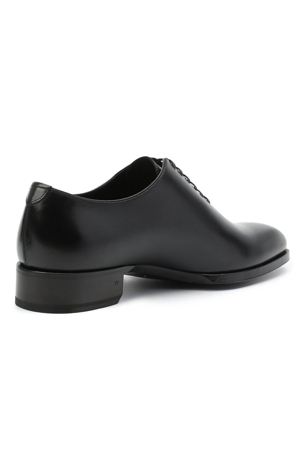 Мужские кожаные оксфорды TOM FORD черного цвета, арт. J1249T-LCL021 | Фото 4