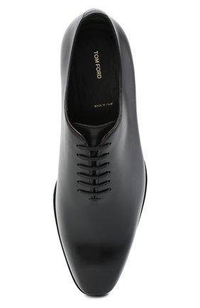 Мужские кожаные оксфорды TOM FORD черного цвета, арт. J1249T-LCL021 | Фото 5