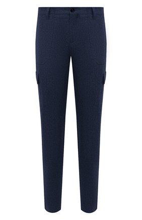 Мужские шерстяные брюки-карго BRUNELLO CUCINELLI синего цвета, арт. M038PS1980 | Фото 1