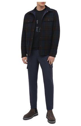 Мужские шерстяные брюки-карго BRUNELLO CUCINELLI синего цвета, арт. M038PS1980 | Фото 2