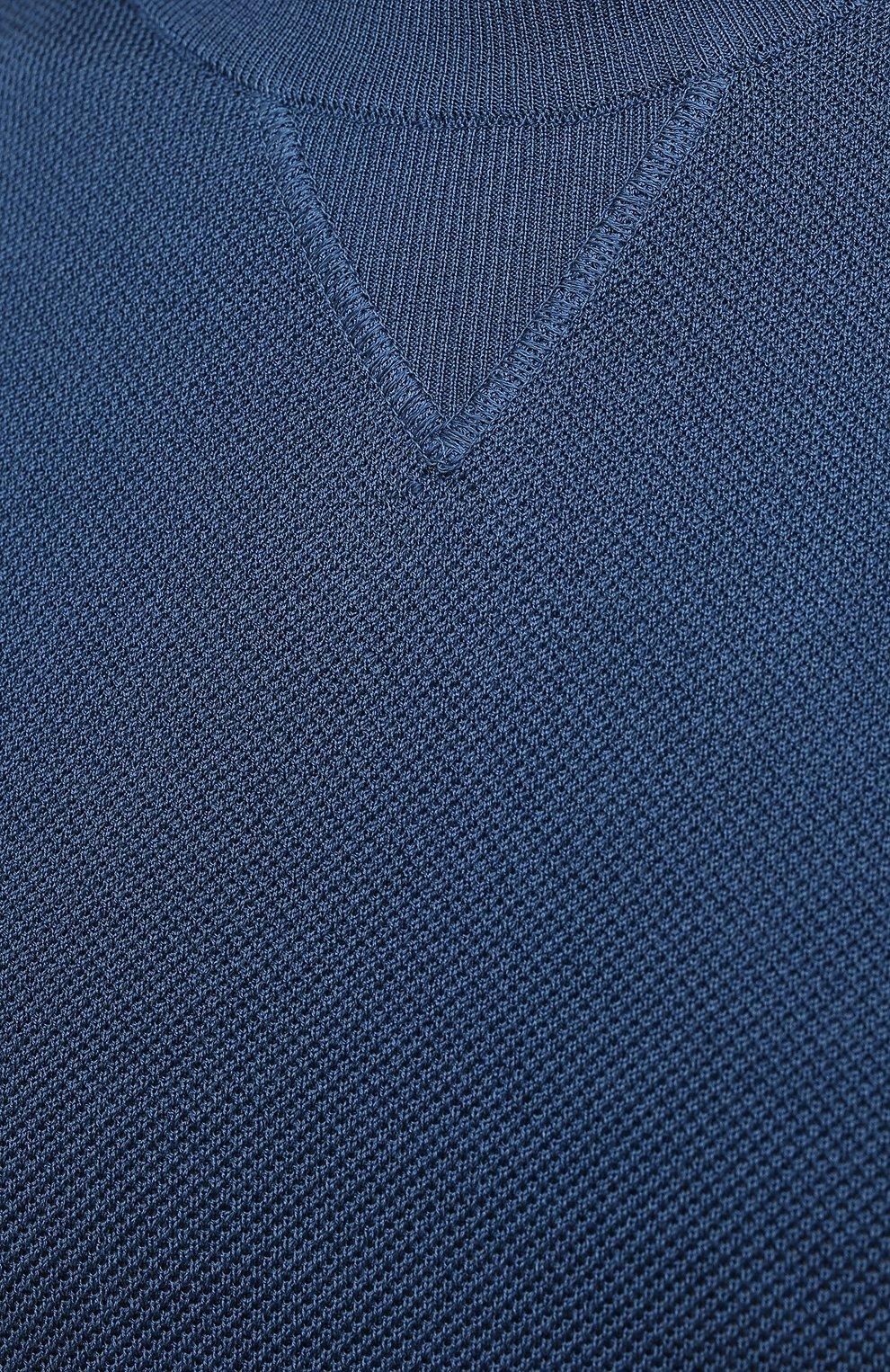 Мужской джемпер из хлопка и вискозы TOM FORD бирюзового цвета, арт. BWD95/TFK110 | Фото 5 (Мужское Кросс-КТ: Джемперы; Рукава: Длинные; Принт: Без принта; Длина (для топов): Стандартные; Материал внешний: Хлопок, Вискоза; Вырез: Круглый; Стили: Кэжуэл)