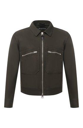 Мужская хлопковая куртка TOM FORD хаки цвета, арт. BW028/TF0301 | Фото 1