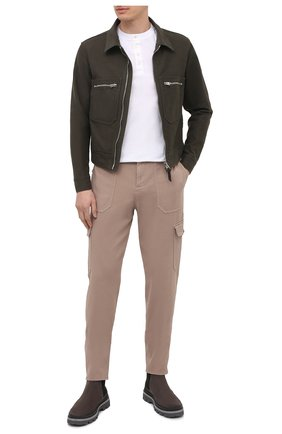 Мужская хлопковая куртка TOM FORD хаки цвета, арт. BW028/TF0301 | Фото 2