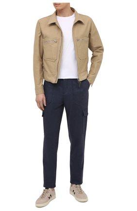 Мужская хлопковая куртка TOM FORD бежевого цвета, арт. BW028/TF0301 | Фото 2 (Материал внешний: Хлопок; Кросс-КТ: Ветровка, Куртка; Рукава: Длинные; Стили: Кэжуэл; Длина (верхняя одежда): Короткие)