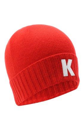 Мужская кашемировая шапка KITON красного цвета, арт. UCAPP01X03T13 | Фото 1
